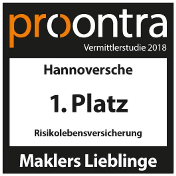 Risikoleben, Test Signet procontra Vermittlerstudie 2018, Maklers Lieblinge, Testurteil: 1. Platz